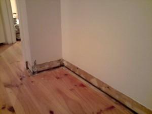Bedroom corner after clean