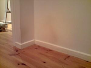 Bedroom corner before clean
