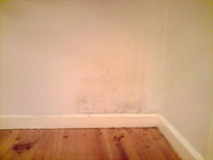 Bedroom mould before clean