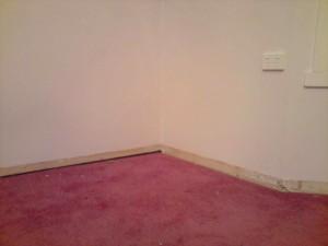 Loungeroom corner after clean