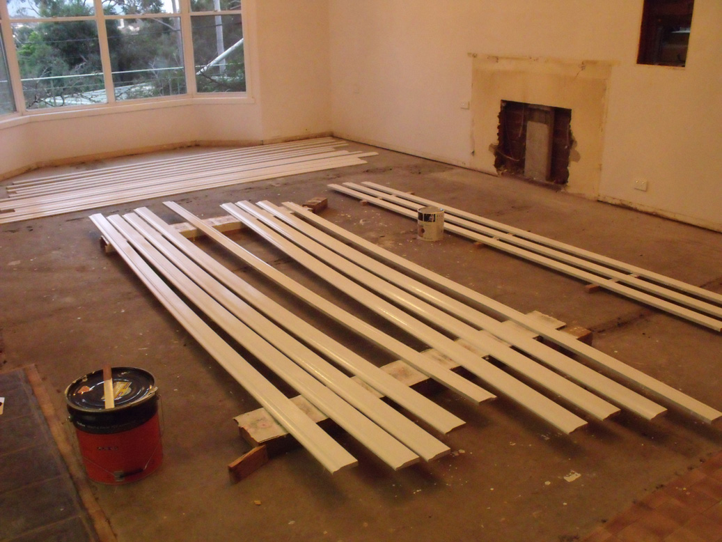 Painted skirting boards
